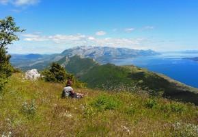 Kroatien Utsikt över hav och bergskedja Vandramera - Vandringsresor