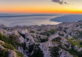 Kroatien fantastiska berg vid havet Vandramera - Vandringsresor