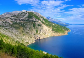 Kroatien Fina berg vid havet Vandramera - Vandringsresor