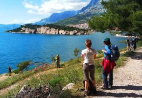 Kroatien Vy från Osejava Skogen Vandramera - Vandringsresor