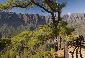 La Palma vy över bergen Vandramera - Vandringsresor
