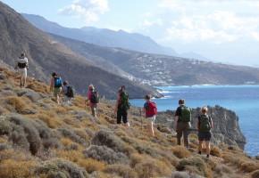 Kreta Vandringsled bland bergen Vandramera - Vandringsresor
