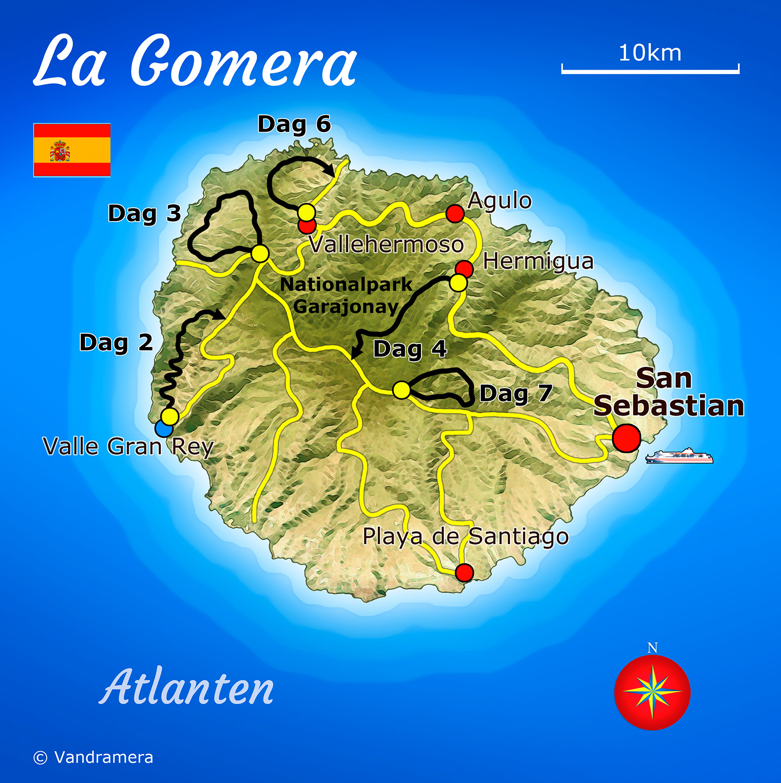 Karta La Gomera Karta 2020