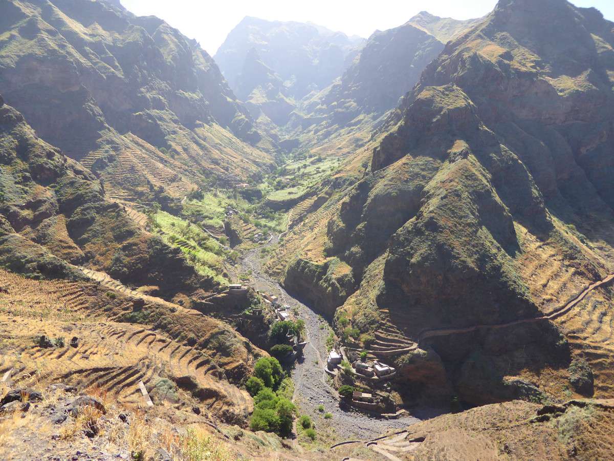 Kap Verde Berg Vandramera Vandringsresor