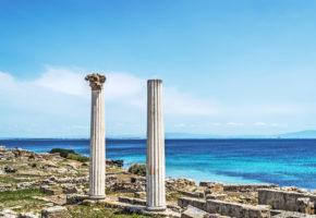 Sardinien, Ruin vid kust Vandramera - Vandringsresor