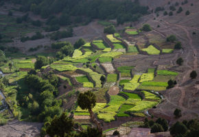 Bild från ovan, Marocko Vandramera - Vandringsresor