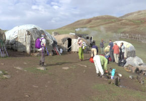 Iran, läger Vandramera - Vandringsresor
