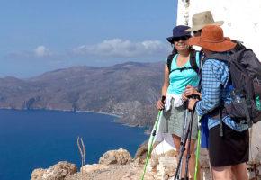 Kreta Utsikt högt upp Vandramera - Vandringsresor