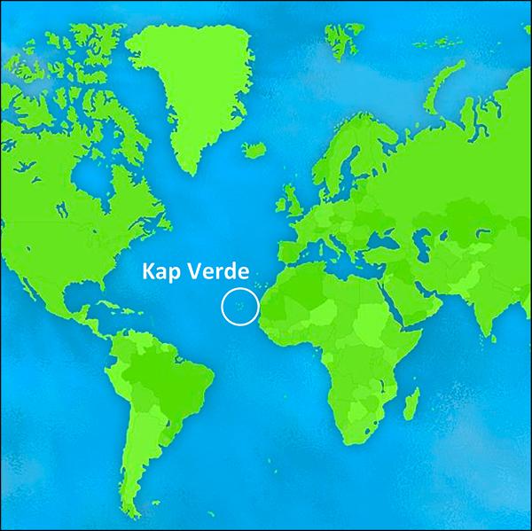 Vandramera Kap Verde Karta