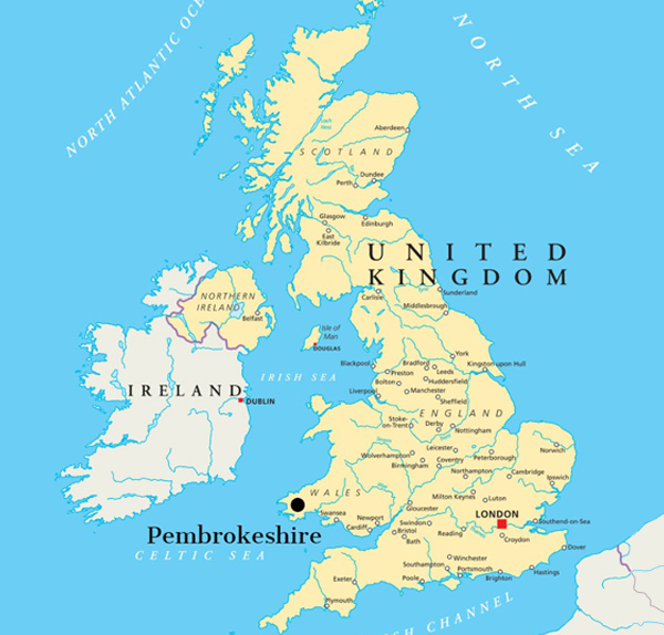 Vandramera United Kingdom Karta