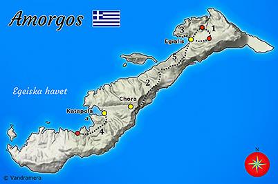 Vandramera Amorgos Karta