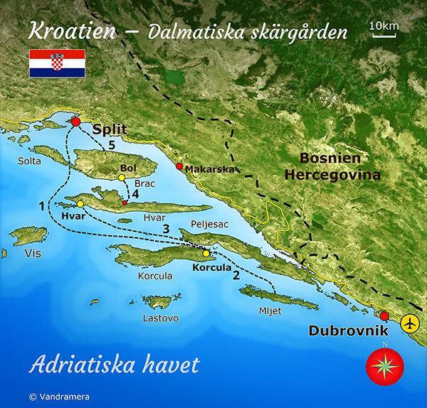 Vandramera Kroatien Karta